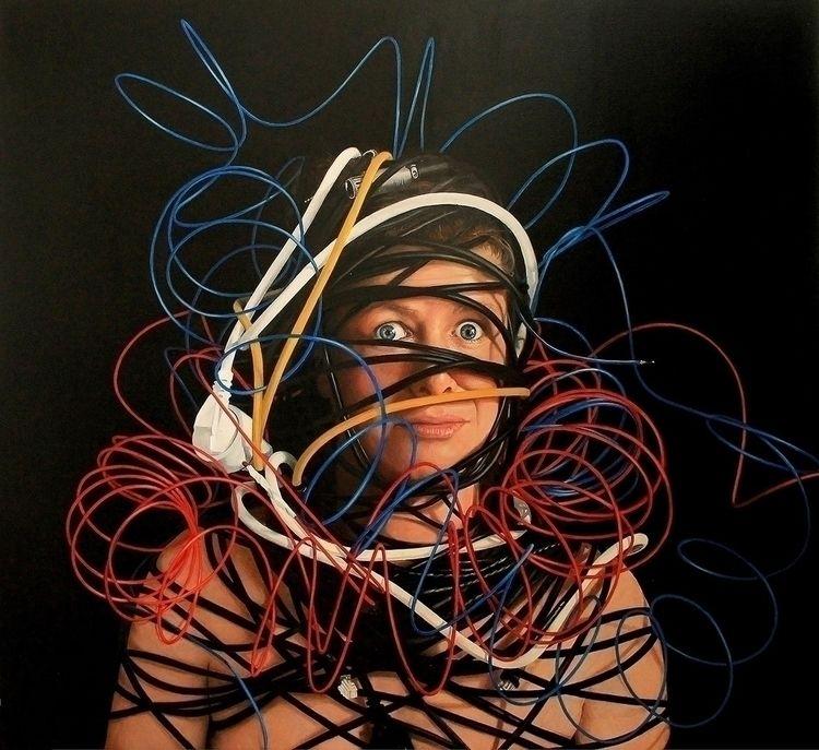 Lore entangled, 120 110cm, oil  - tanyaatanasovavisualarts | ello