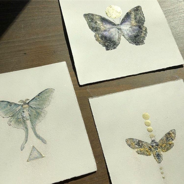 paintings - moth, lunamoth, deathsheadhawkmoth - alexakarabin | ello