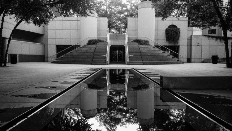 atlanta, pool, reflection, blackandwhite - underflow | ello