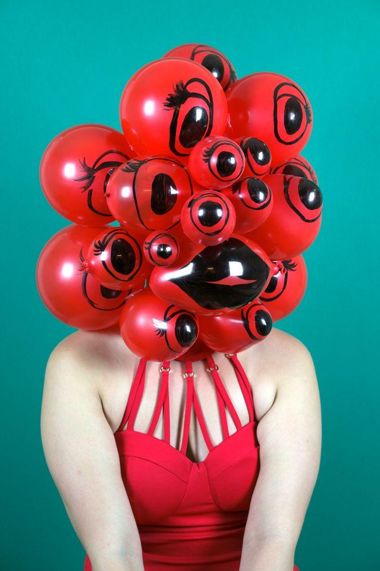 """Hannah"" AIR HEADS series portr - crummygummy | ello"