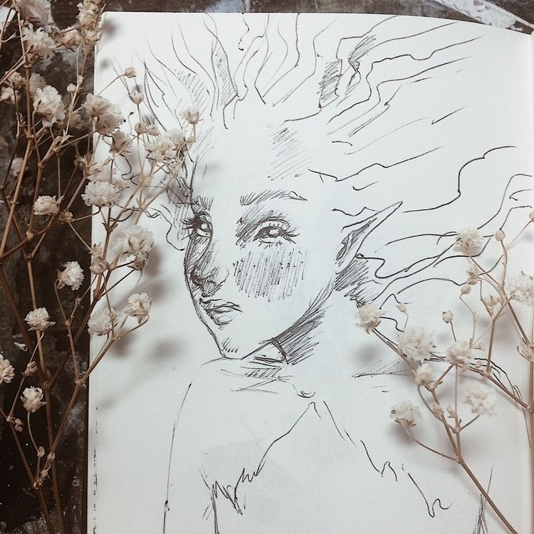 Lil wood sprite sketch  - sketchbook - zemmyfay | ello