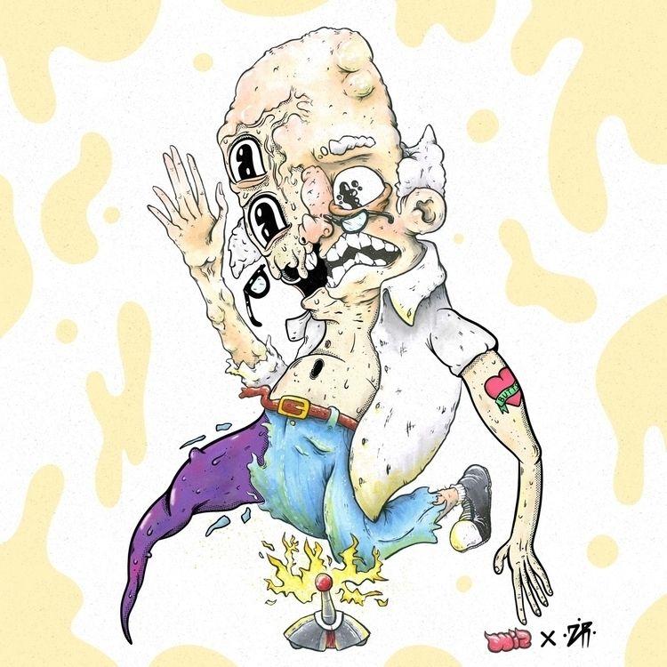 collab . super fun - art, artist - zackrussellart | ello