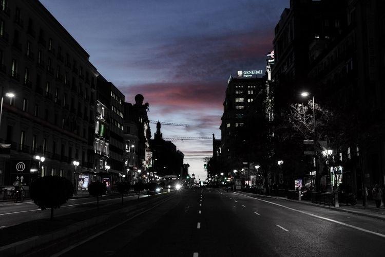 night, lights, sunset, urban - alphaevil | ello