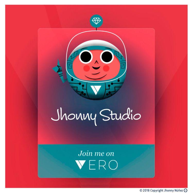 Hey guys, Vero - JhonnyNúñez, illustration - dblackhand | ello