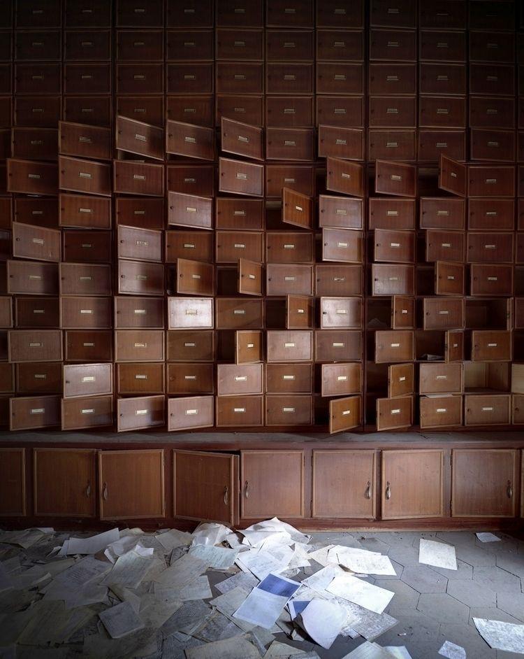 Storage units abandoned psychia - forgottenheritage   ello