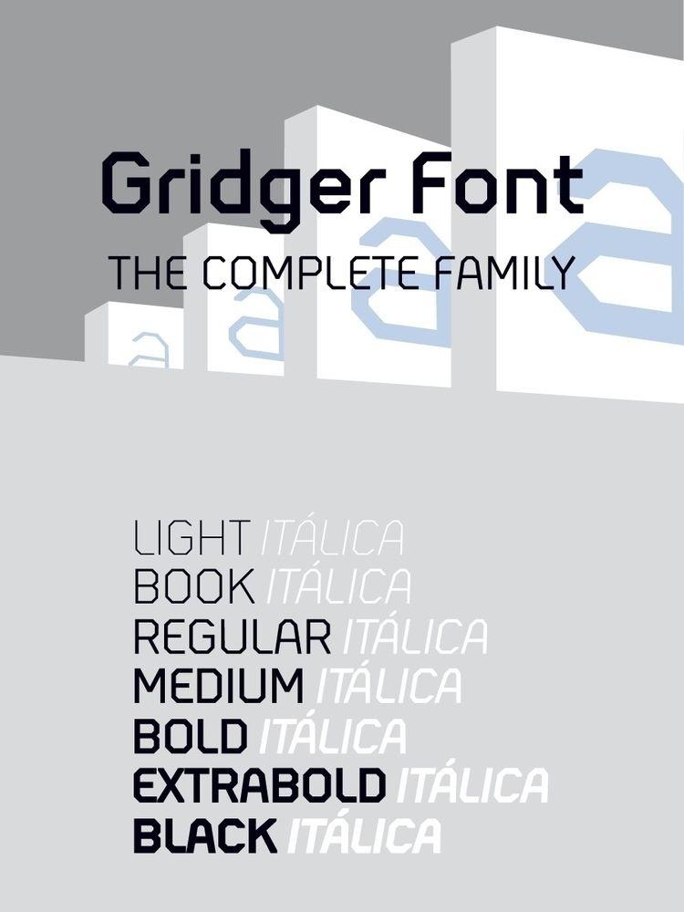 14 fonts pack - GridgerFont. - andreugallart | ello