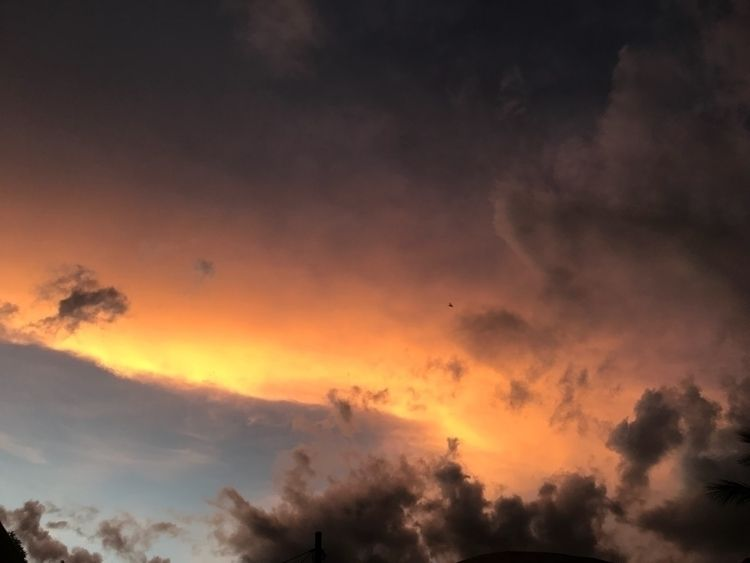 sunset yesterday beautiful - clouds - unfollowme | ello