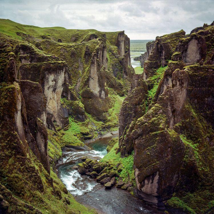 Fjaðrárgljúfur, Iceland. Yashic - danielregner | ello