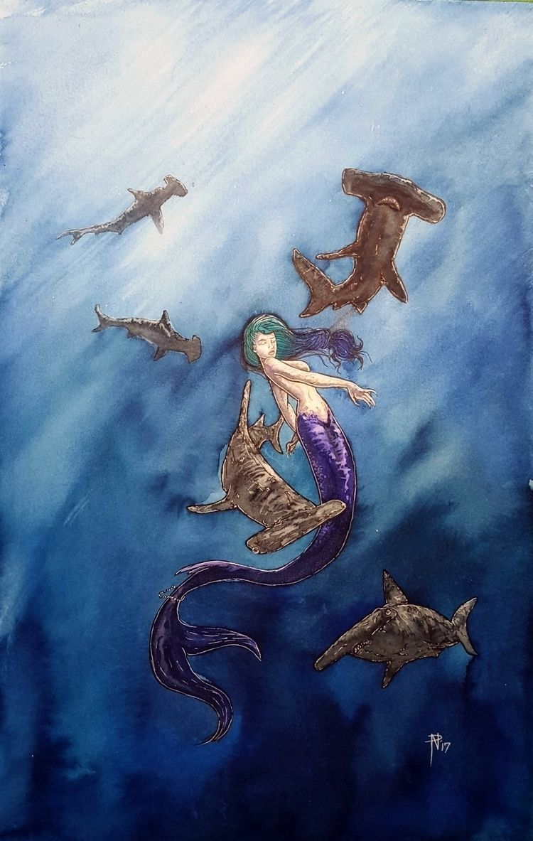 untitled watercolor, ink - mermaid - itswitchcraft | ello