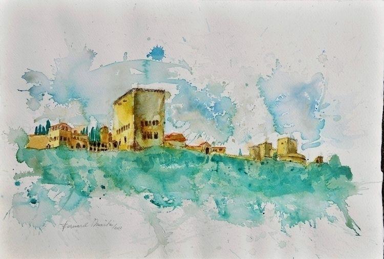 Alhambra 2012 Watercolor. 45 63 - ben-peeters | ello