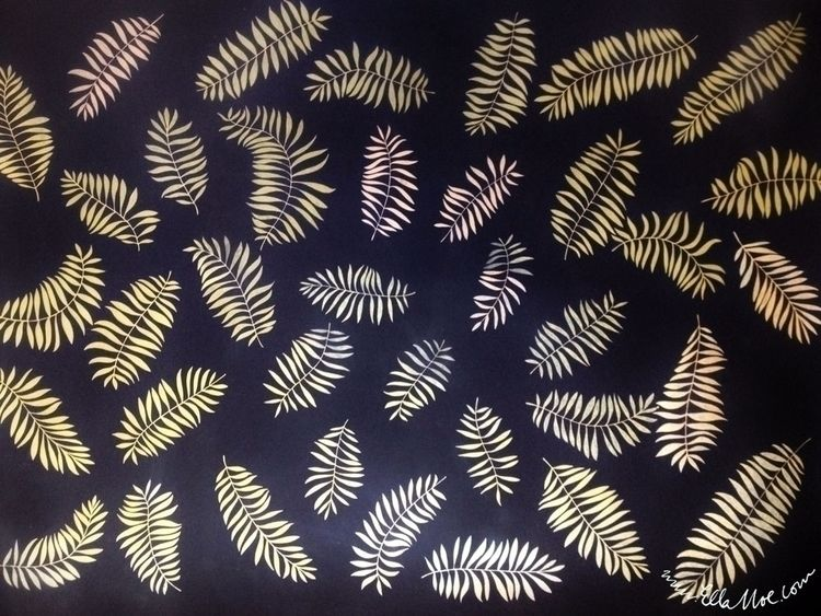GOLD FERN Large scale, freehand - ellamoe | ello