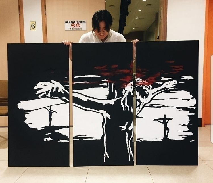 Sacrifice. (acrylic canvas - goodfriday - brain-nommer | ello