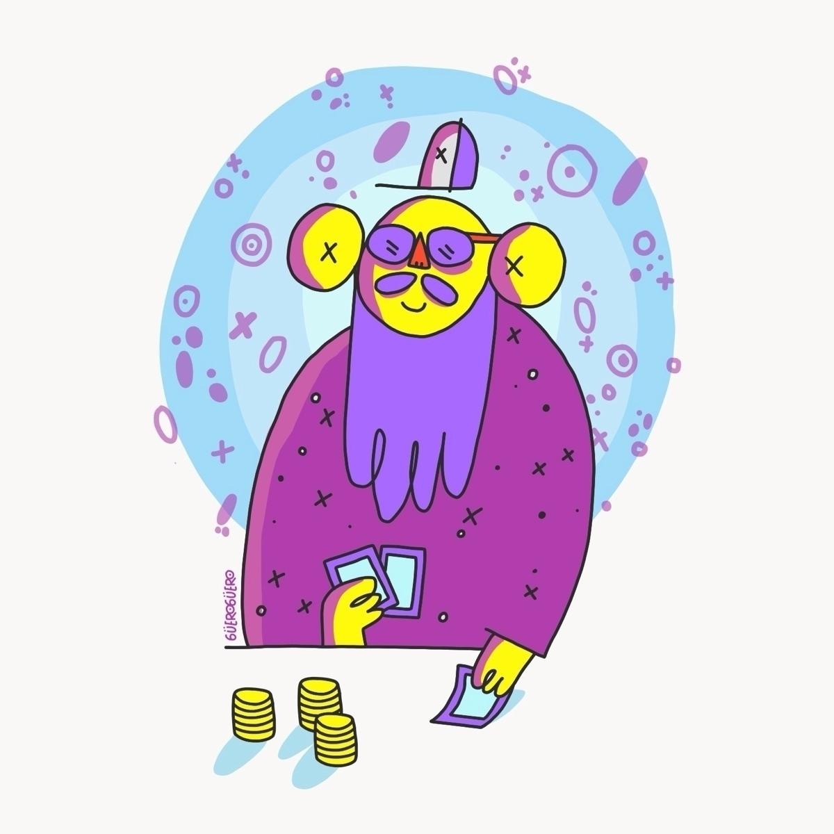Gamble, doodle, drawing, digitaldrawing - gueroguero | ello