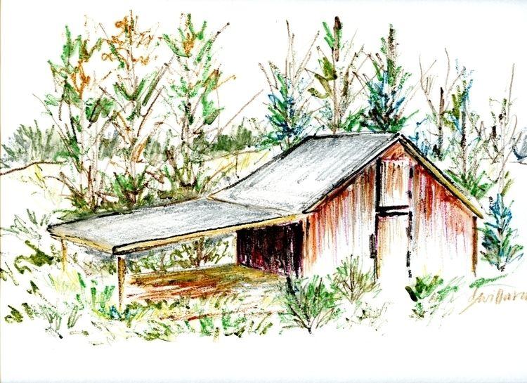 Rustic Farm Building, Kernersvi - debwillynilly | ello