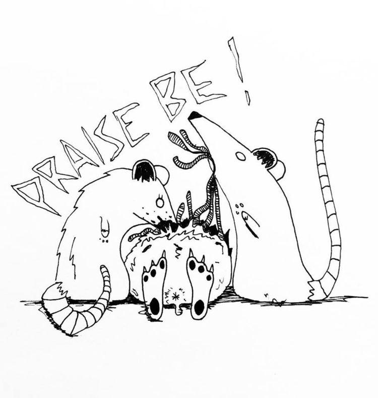 PRAISE - art, drawing, cute, penandink - lavendercoma | ello