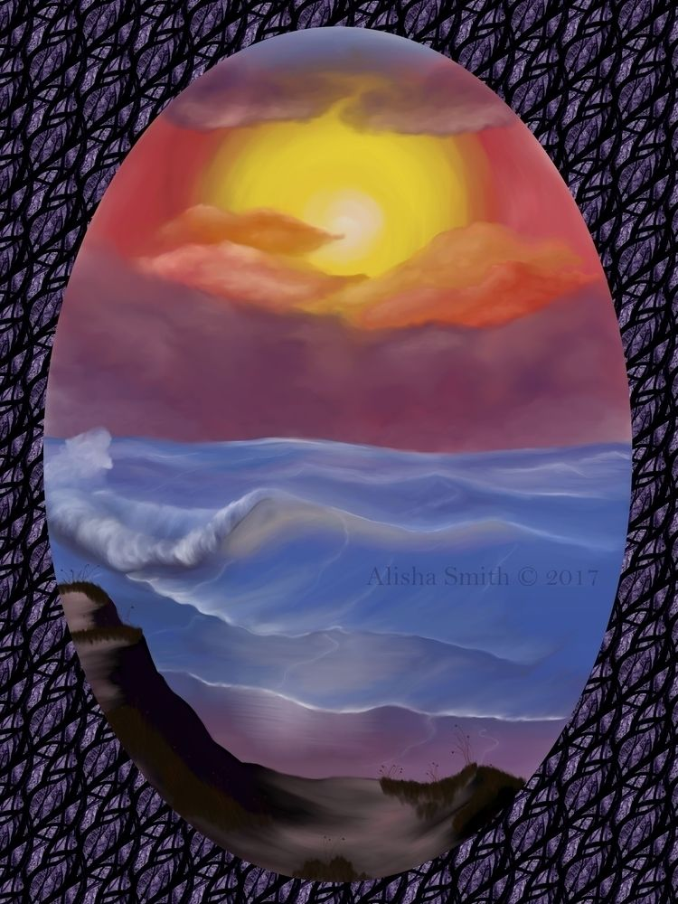 pastel, landscape, seascape, sea - alishadawncreations | ello