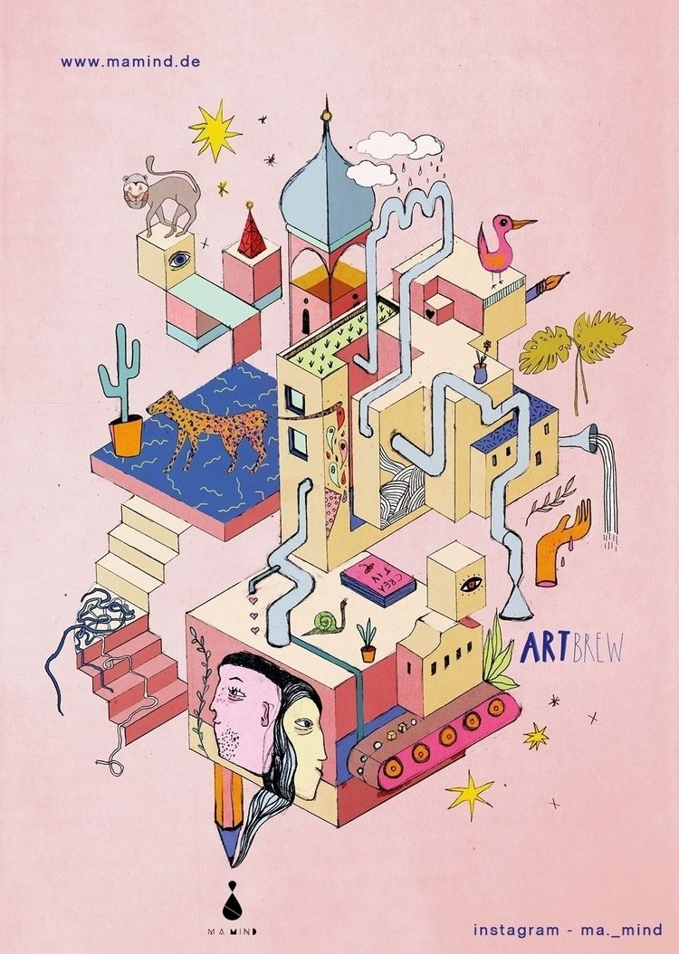 // poster - artwork artbrew des - mamind | ello