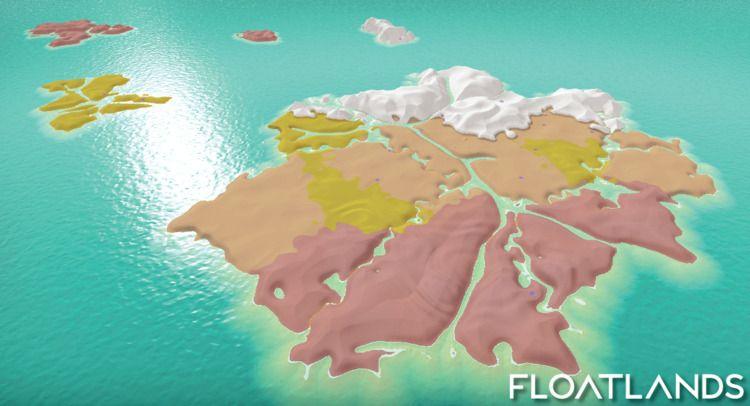 Procedurally generated Mainland - floatlands | ello