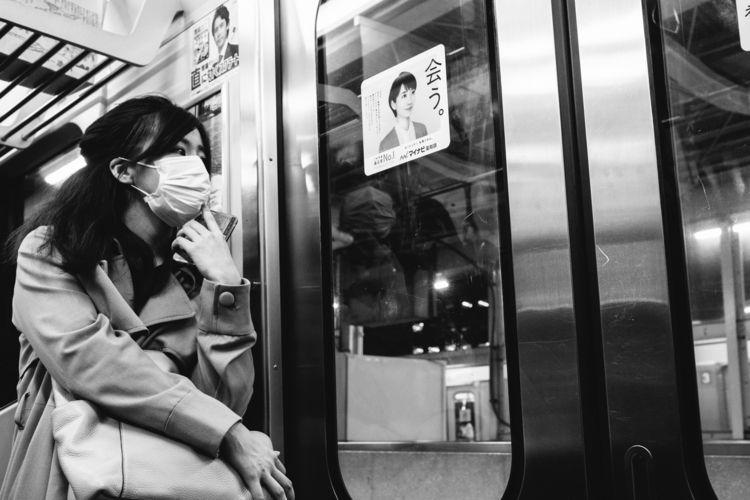 Tokyo subway - blackandwhitephotography - adamkozlowski | ello