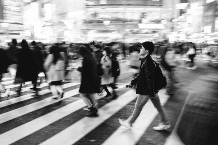 Shibuya crossing - blackandwhitephotography - adamkozlowski | ello