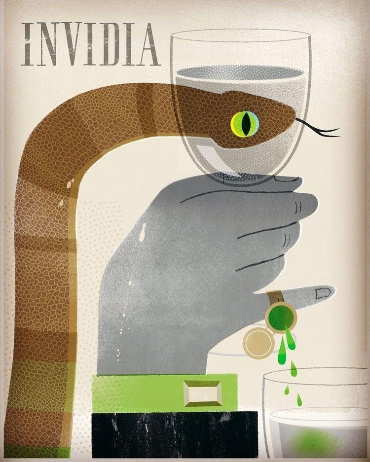 Envy poisonous eye. Illustratio - studiogarcia | ello