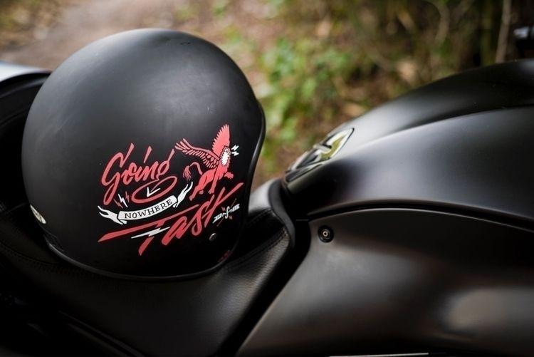 painted mates motorcycle helmet - mattvergotis | ello