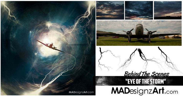 posted. piece titled, Eye Storm - madmandrool | ello