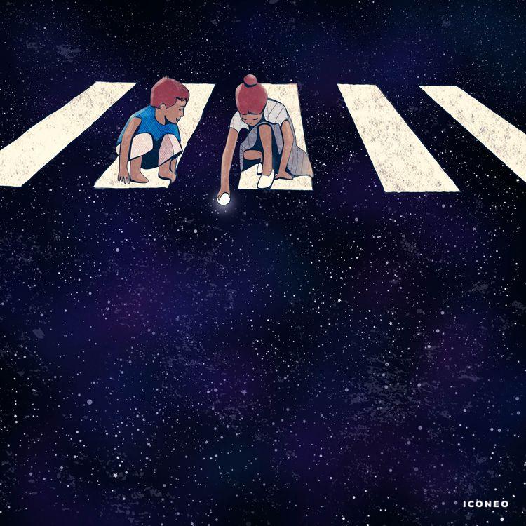 Kids - art, illustration, space - iconeo | ello