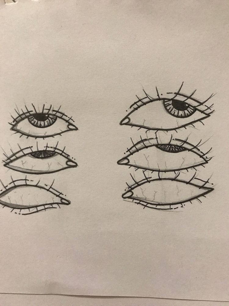 ~Pencil lines sleepy eyes~  - pencil - unfollowme | ello