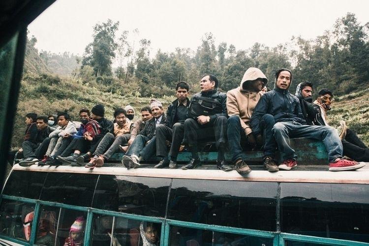 Kathmandu rush hour - streetphotography - nilsemil | ello