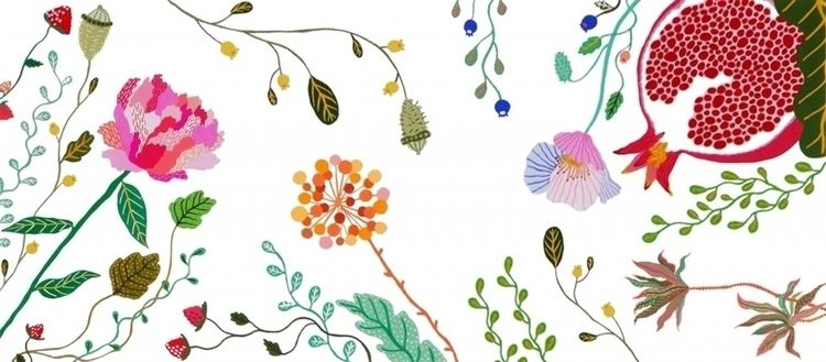 Botanical banner - illustration - fernchoonet | ello