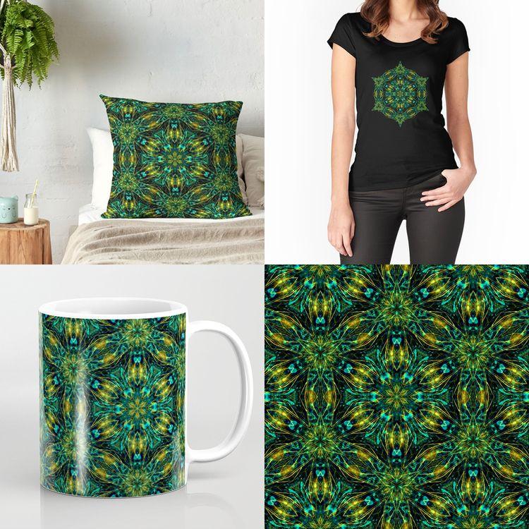 pattern, emerald, sacredgeometry - natasha_sedyakina | ello