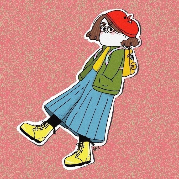 portrait favorite outfit - illustration - sax_illu | ello