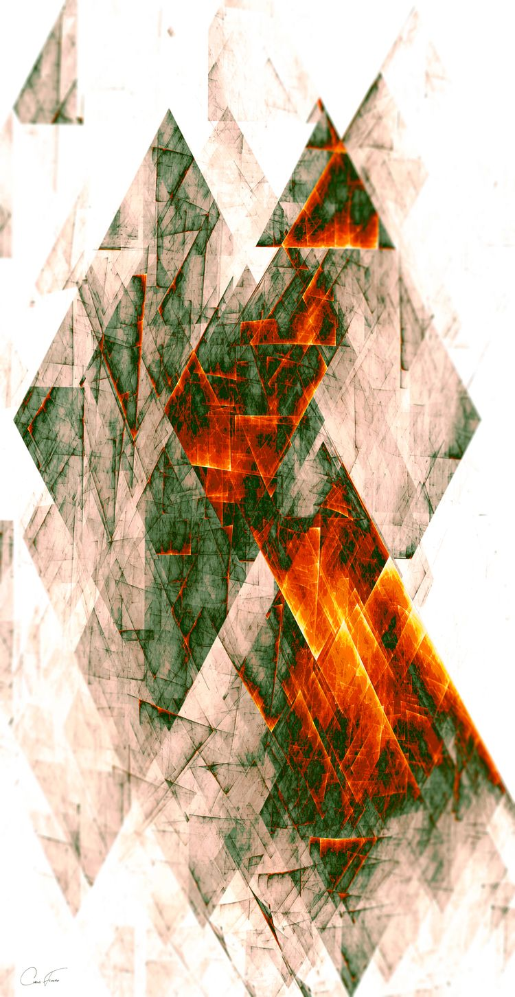 Rusty pattern / digital triangu - chrisfierro | ello