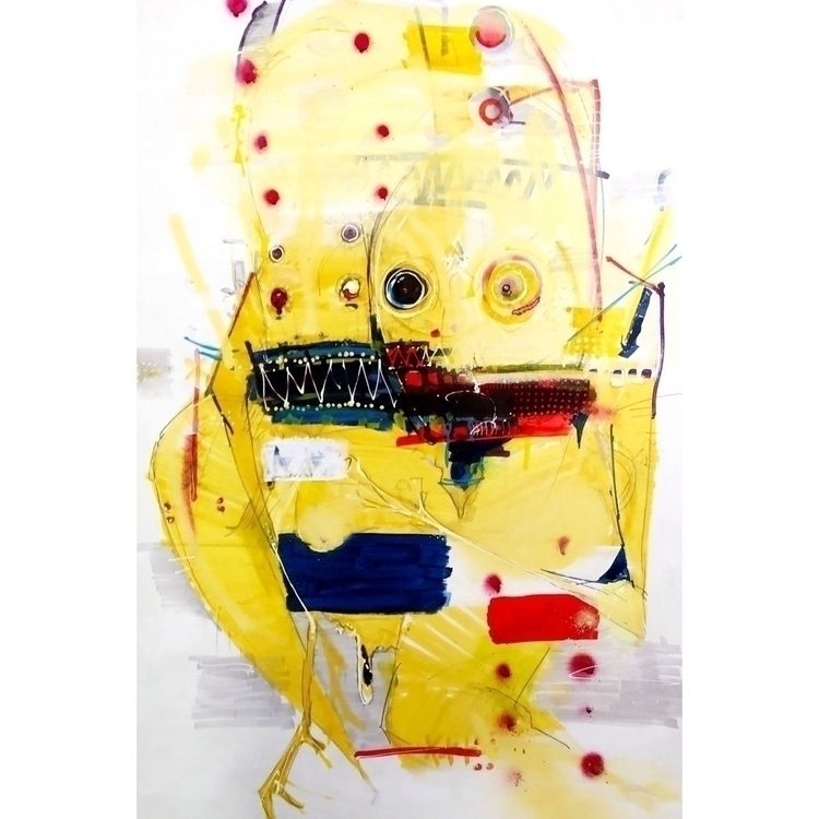 Yellow dude. 20x30 - art, abstract - jcraywtf | ello