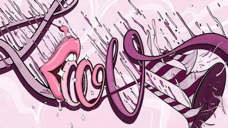 """""""Love Blood"""" Neil Wang muralist - neillhw   ello"""