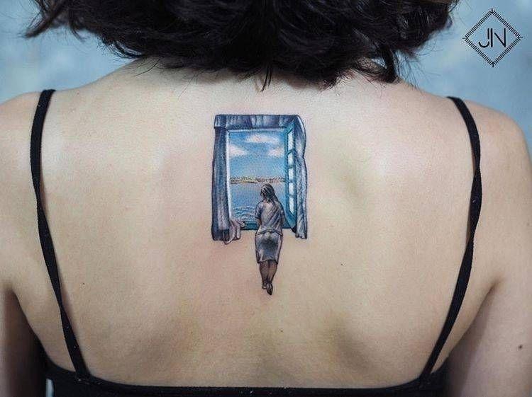 'girl window' tattoo, Jefree Na - tattoofilter   ello