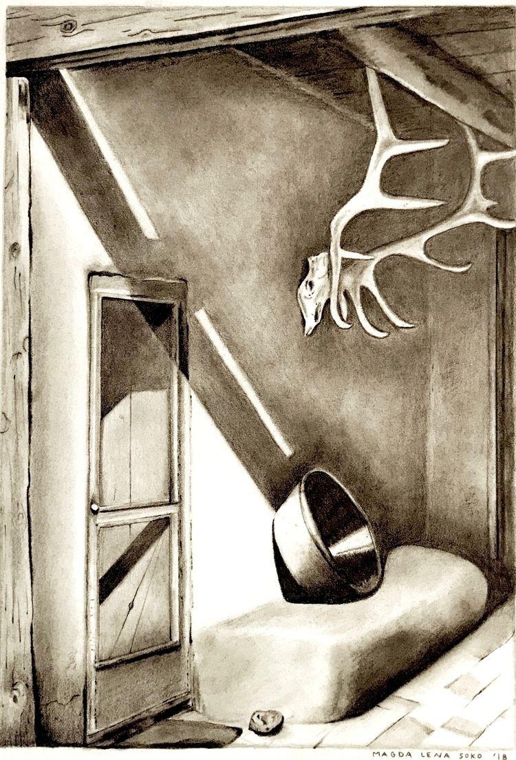 Georgia Door | 12x18 graphite 2 - magdalenasoko | ello