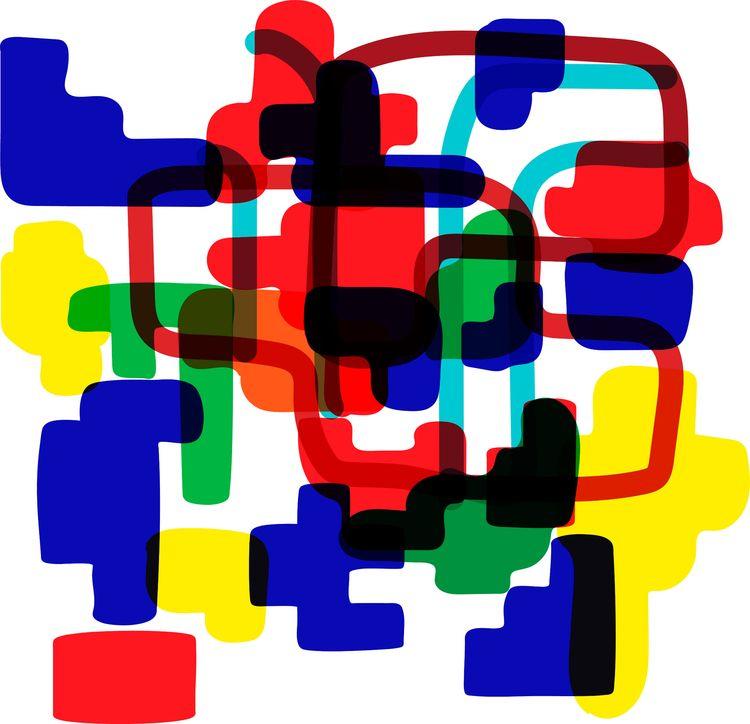 Figuras entrelazadas - design, art - j_r_s_ | ello