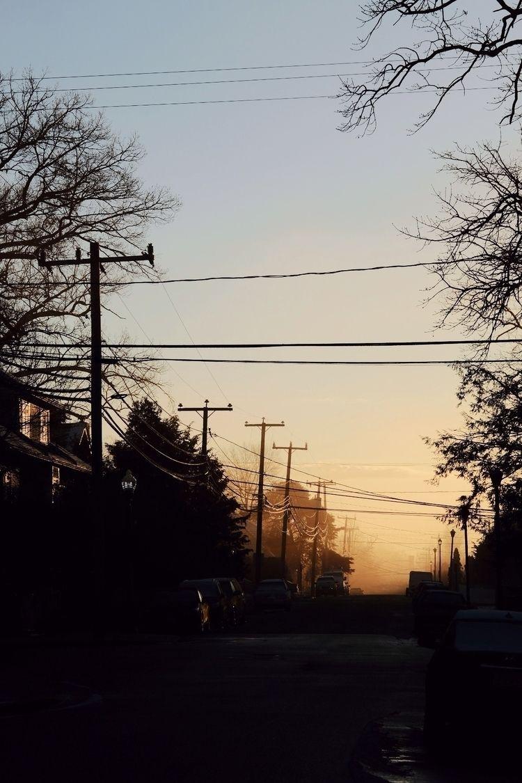 foggy morning neighborhood - tatebot   ello