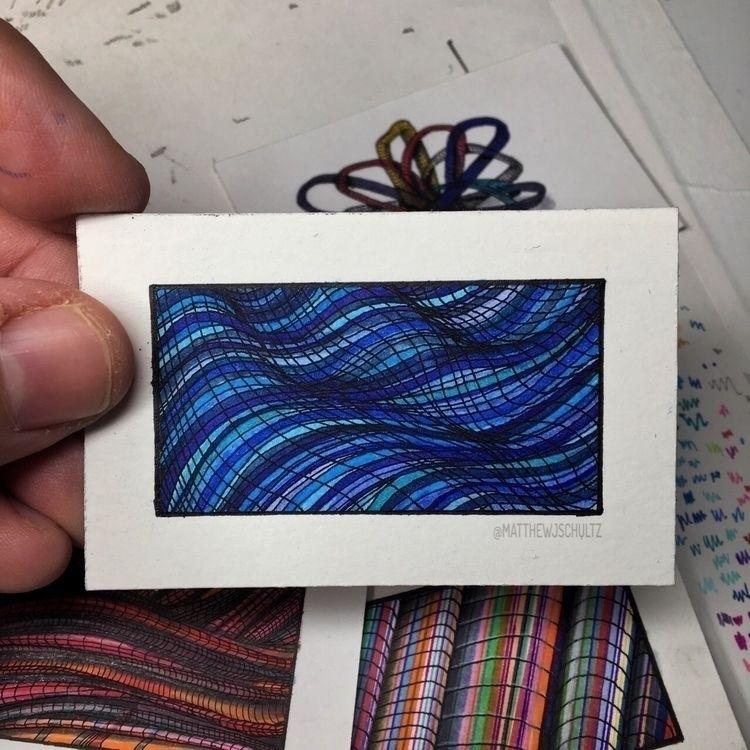 Geometric waves - blue. - matthewjschultz | ello