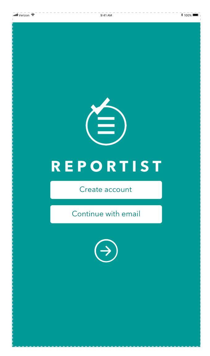 App mock Reportist app - hld09 | ello