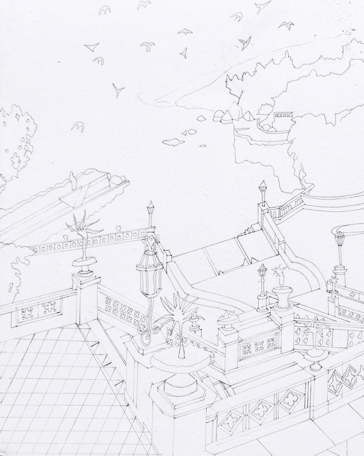 Coloring book - illustration, penandink - whitneysanford   ello