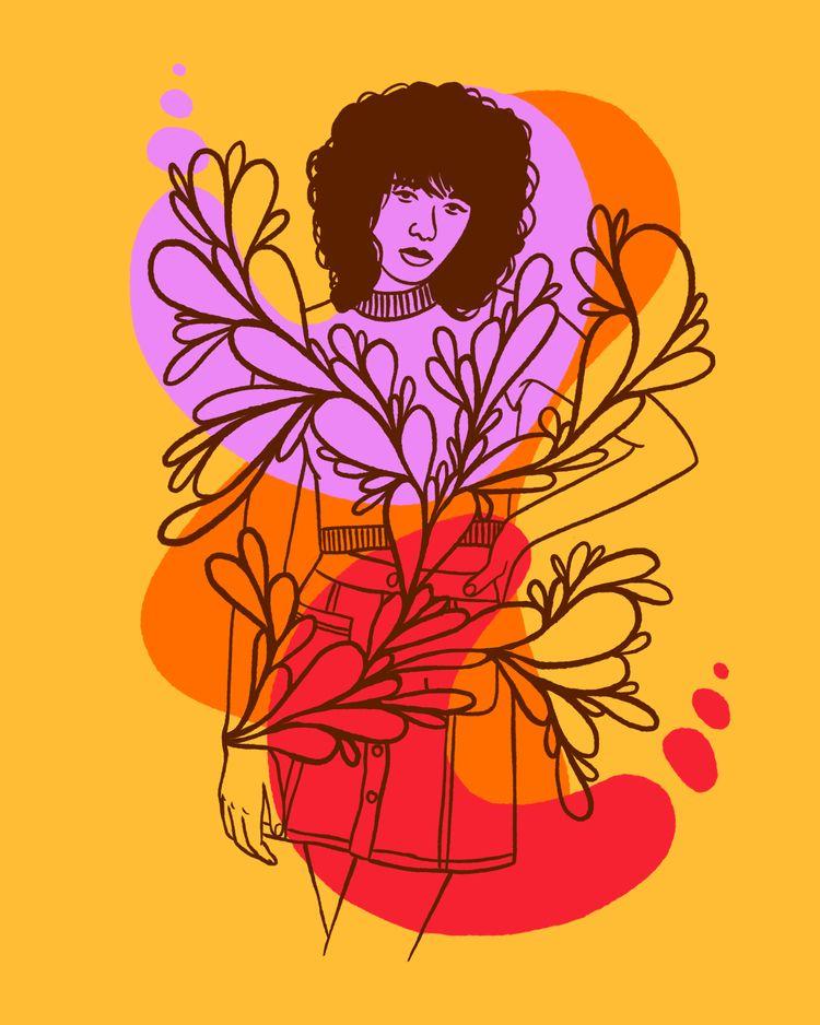 Light feather - illustration, illustrator - heybop | ello
