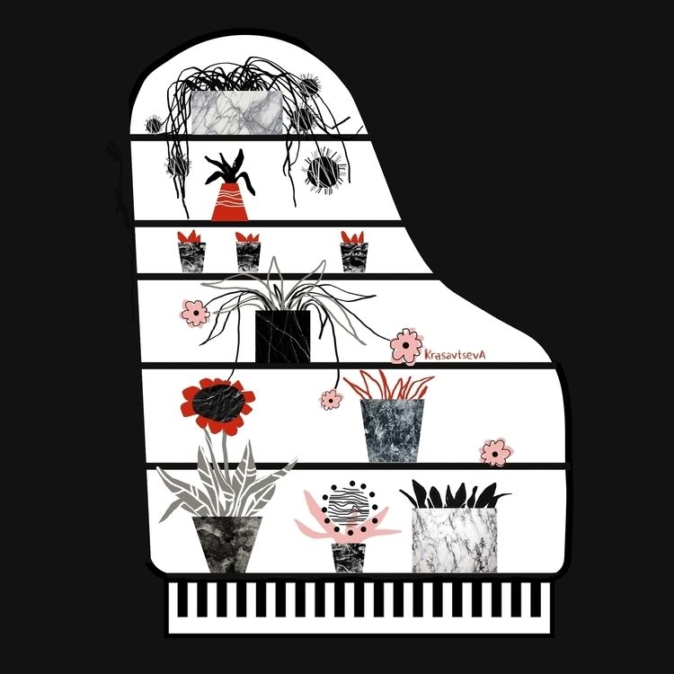 Piano = cupboard - illustration - alja_krasavtseva | ello