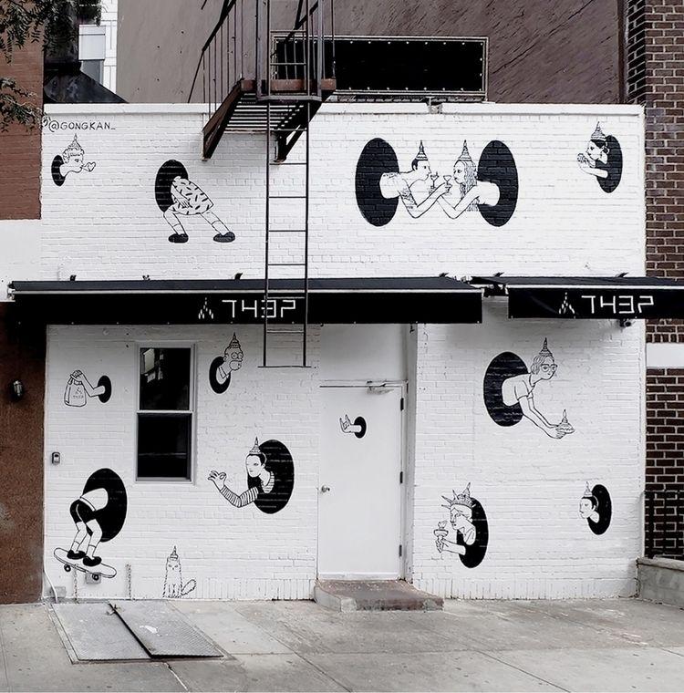 teleport project Mural art Manh - gongkan | ello