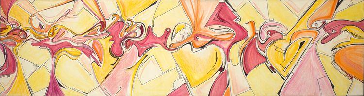 *2 300cm 70cm Pastels canvas We - lopez-orsini   ello