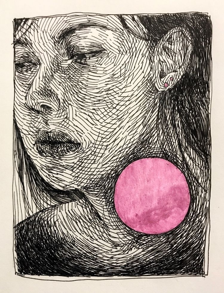 Ink illustrations, 'Portrait'  - taylorhoppesart | ello
