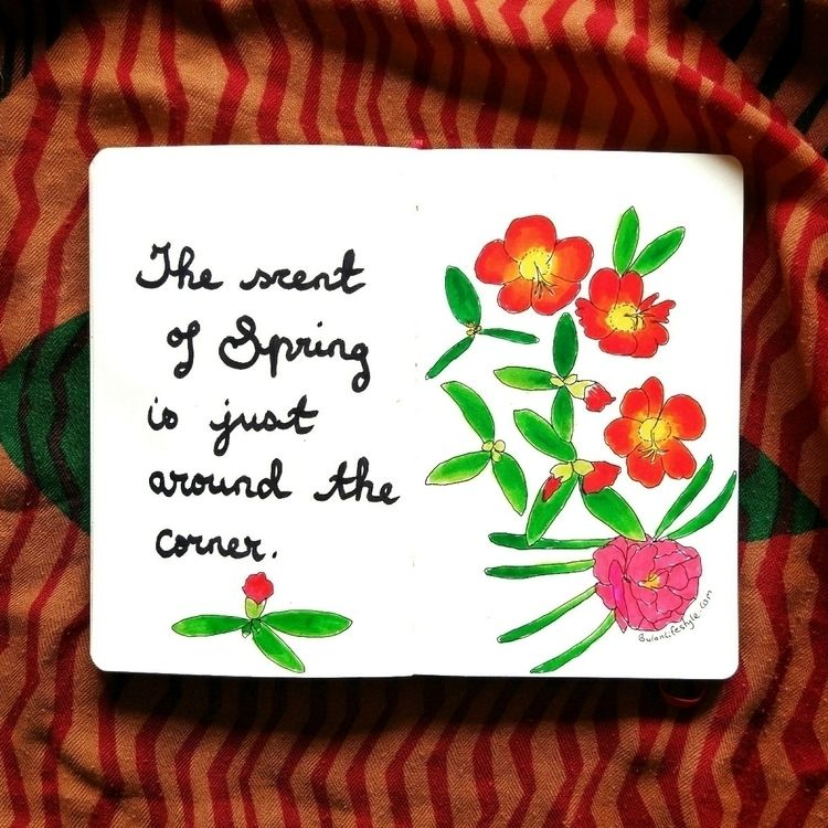 scent spring corner Sketch day  - bulanlifestyle | ello