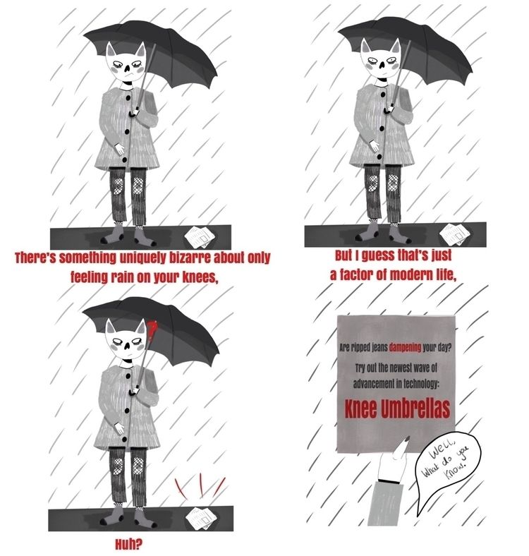 comic based thought rain :umbre - hattiemakesthings | ello